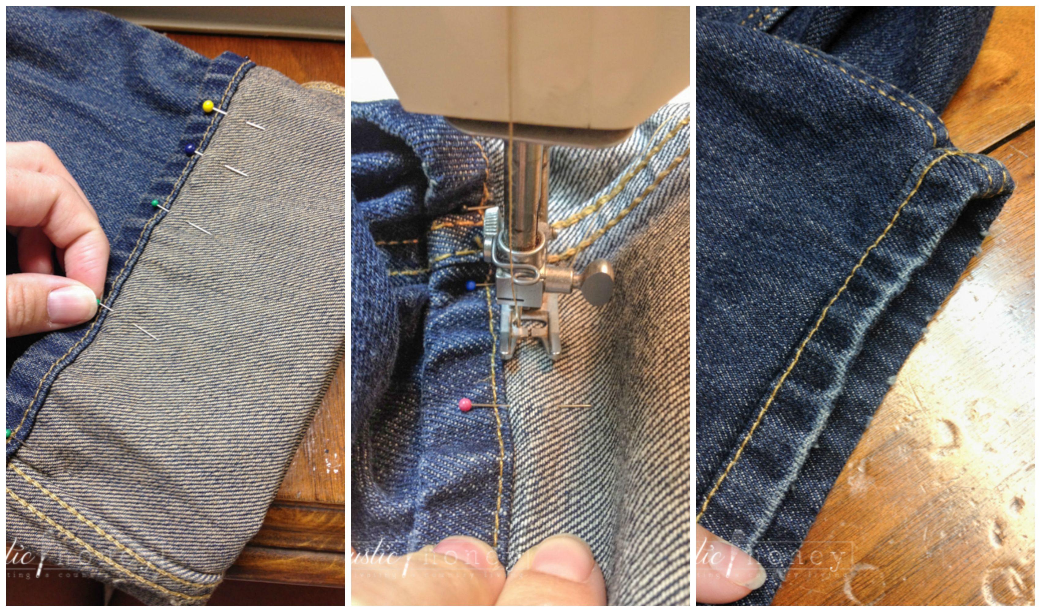 diy hem your jeans like a pro. Black Bedroom Furniture Sets. Home Design Ideas